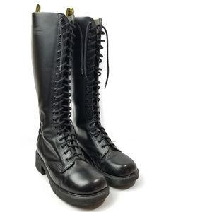 Dr. Martens Vintage 20 Eye Tall Combat Boots Rare